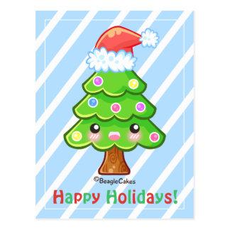 Cartão da árvore de Chsritmas boas festas Cartão Postal