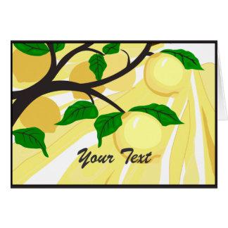 Cartão da árvore de limão