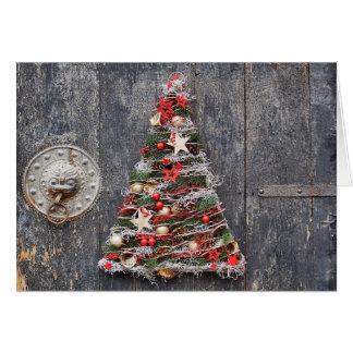 Cartão da árvore de Natal do artesanato