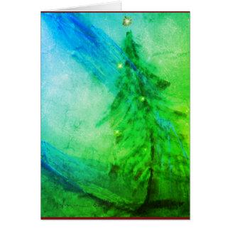 Cartão da árvore de Natal do esplendor do Natal