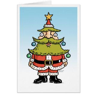 Cartão da árvore de Natal do papai noel