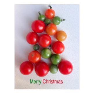 Cartão da árvore de Natal do tomate