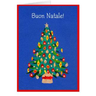 Cartão da árvore de Natal, italiano