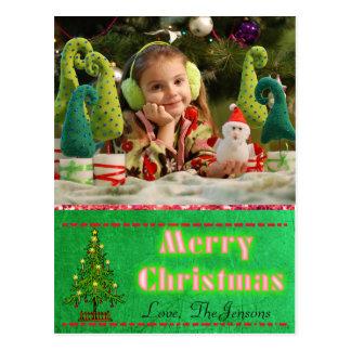 Cartão da árvore de Natal personalizado