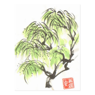 Cartão da árvore de salgueiro Weeping