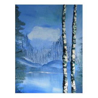 Cartão da árvore de vidoeiro (vertical)