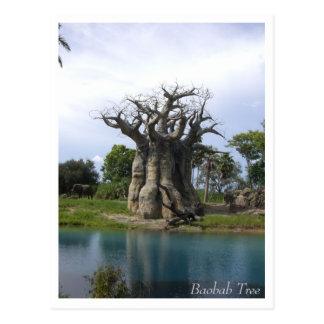 Cartão da árvore do Baobab