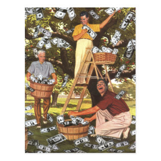 Cartão da árvore do dinheiro