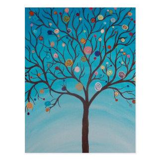 Cartão da árvore do pirulito