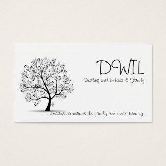 Cartão da árvore genealógica DWIL