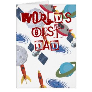 Cartão da astronomia do dia dos pais