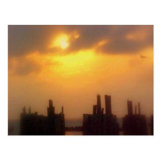 Cartão da aterragem da balsa da península de cartão postal