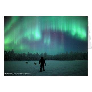 Cartão da aurora boreal
