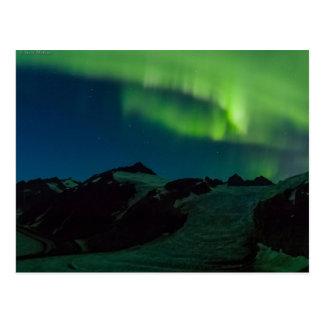 Cartão da aurora boreal de Juneau Icefield