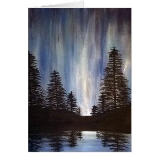 Cartão da Aurora da floresta