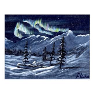 Cartão da Aurora da natureza