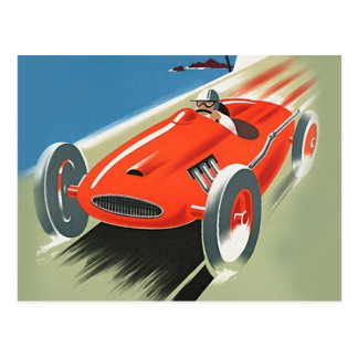 Cartão da auto competência do vintage