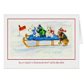 Cartão da aventura do Natal