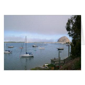 Cartão Da baía bonita de Morro