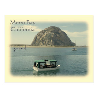 Cartão da baía de Morro do estilo do vintage!