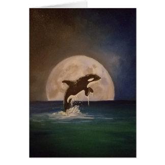 Cartão da baleia de assassino