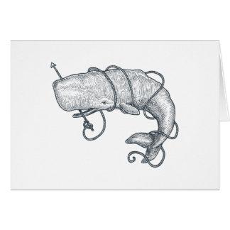 Cartão da baleia do arpão