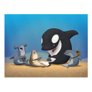 Cartão da banda de jarro do oceano