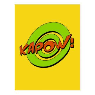 Cartão da banda desenhada de Kapow Cartoes Postais