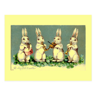 Cartão da banda do coelhinho da Páscoa do vintage