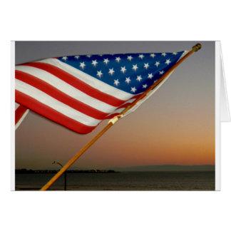 Cartão da bandeira americana