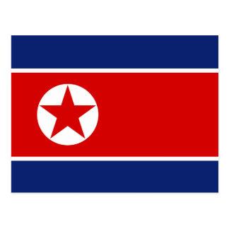 Cartão da bandeira da Coreia do Norte Cartões Postais