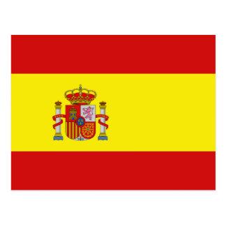 Cartão da bandeira da espanha cartão postal