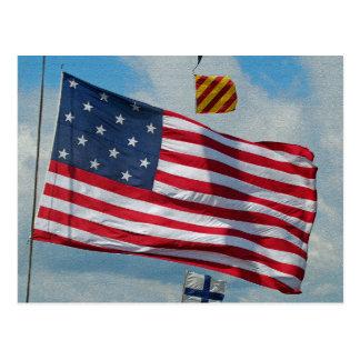Cartão da bandeira da estrela dos EUA 15 Cartoes Postais