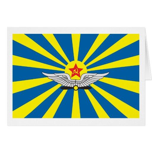 Cartão da bandeira da força aérea de URSS