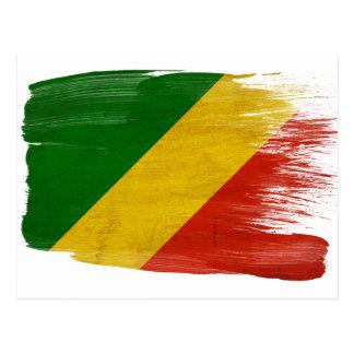 Cartão da bandeira da república de Congo