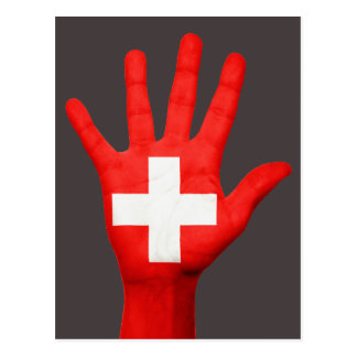 Cartão da bandeira da suiça