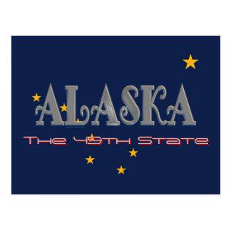 Cartão da bandeira de Alaska EUA