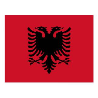 Cartão da bandeira de Albânia