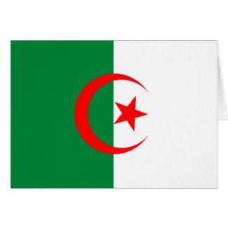 Cartão da bandeira de Argélia
