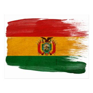 Cartão da bandeira de Bolívia Cartoes Postais
