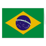 Cartão da bandeira de Brasil