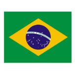 Cartão da bandeira de Brasil Cartões Postais