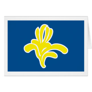 Cartão da bandeira de Bruxelas