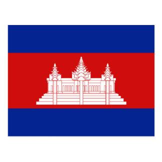 Cartão da bandeira de Cambodia