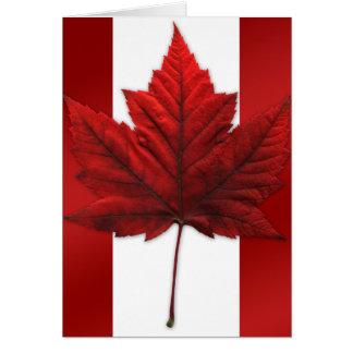 Cartão da bandeira de Canadá do cartão de Canadá