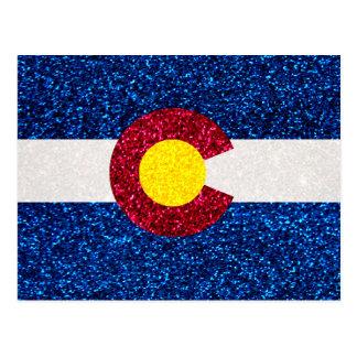 Cartão da bandeira de Colorado do brilho