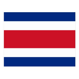 Cartão da bandeira de Costa Rica Cartão Postal