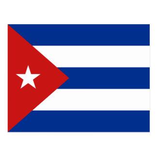 Cartão da bandeira de Cuba