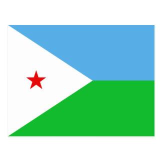 Cartão da bandeira de Djibouti