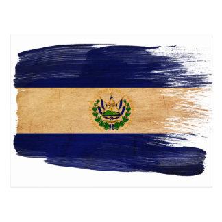 Cartão da bandeira de El Salvador Cartão Postal